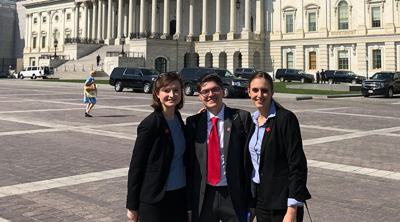Heidi Yeh, Austin Grubb and Brittany Schieler in Washington D.C.